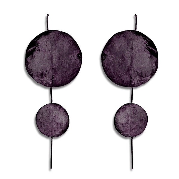 Skyfall2 Earrings-Black