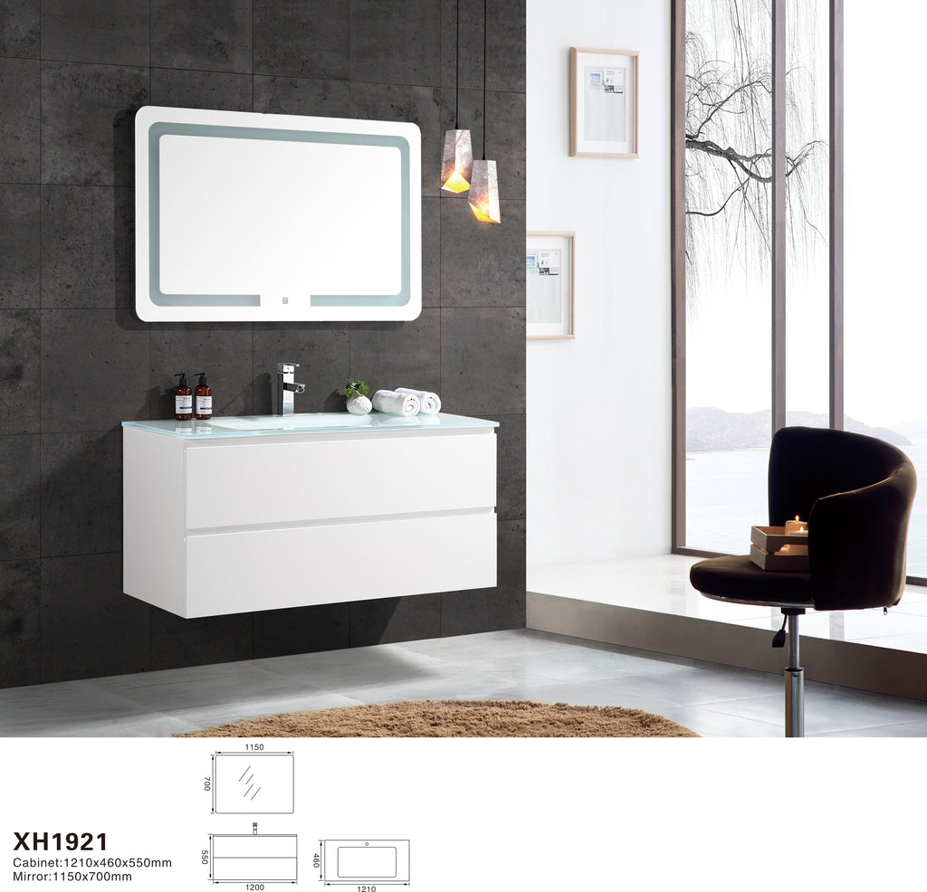 Renozone Designer Series Glass Top Vanity