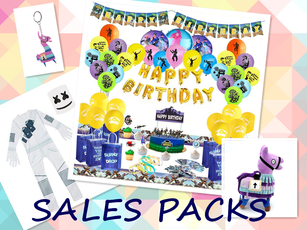 Deluxe Edition Fortnite Theme Birthday Party Supplies Party Favors Whole  Set Bundle 4 in 1