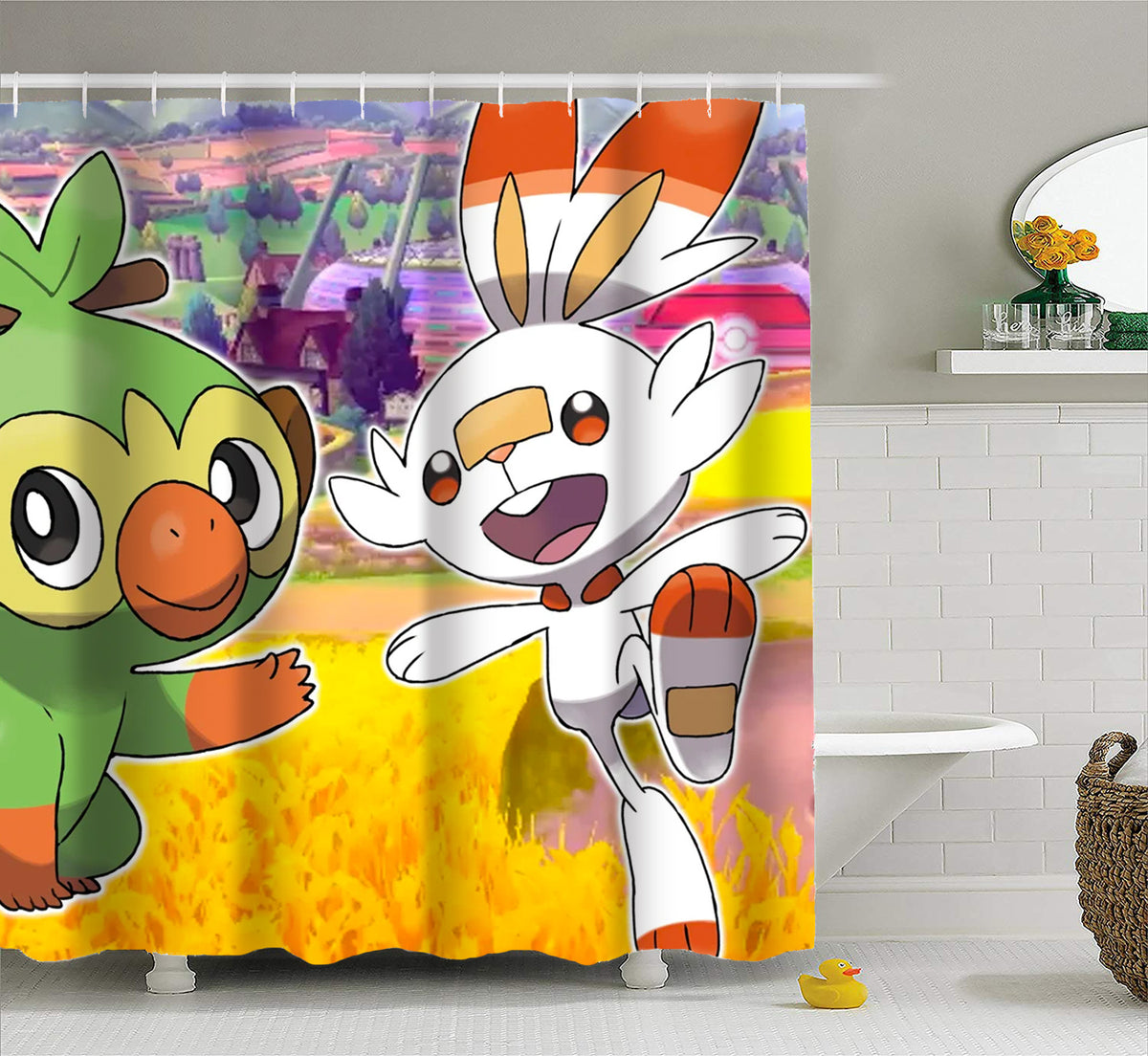 Pokemon Sword And Shield Waterproof Curtain Mould Proof