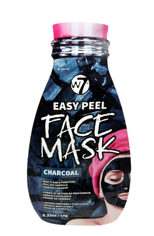 W7 maska Easy Peel Charcoal