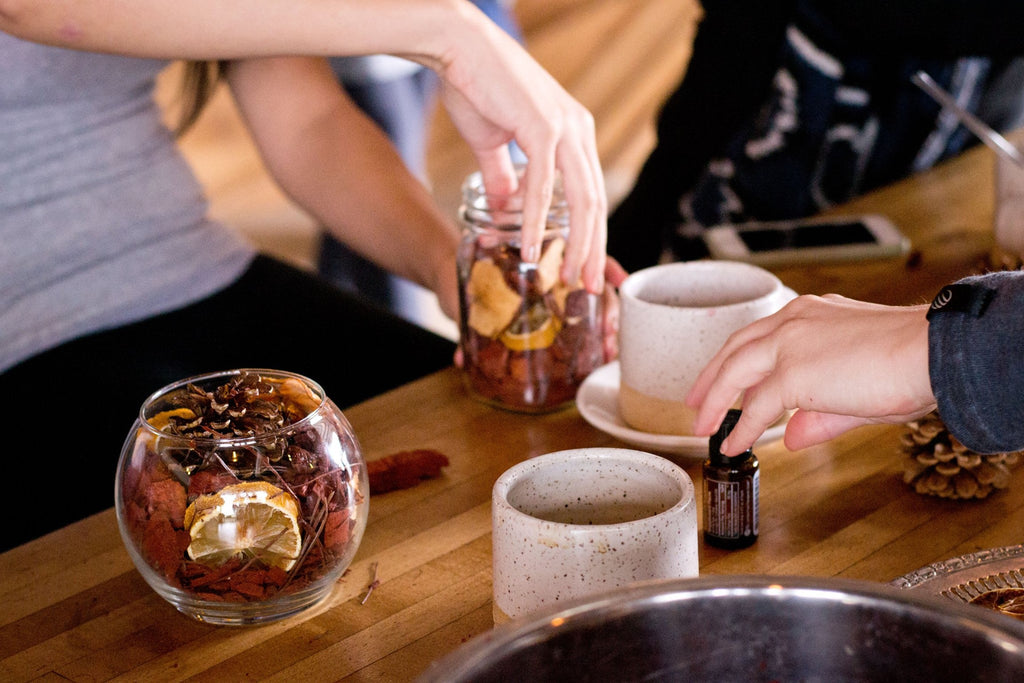 DIY Pot Pourri at Presta Coffee in Tucson Arizona