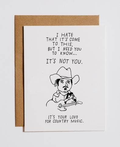 Country Music Greeting Card