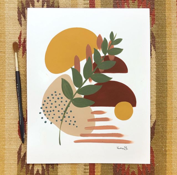 Modern Nature Shapes Print