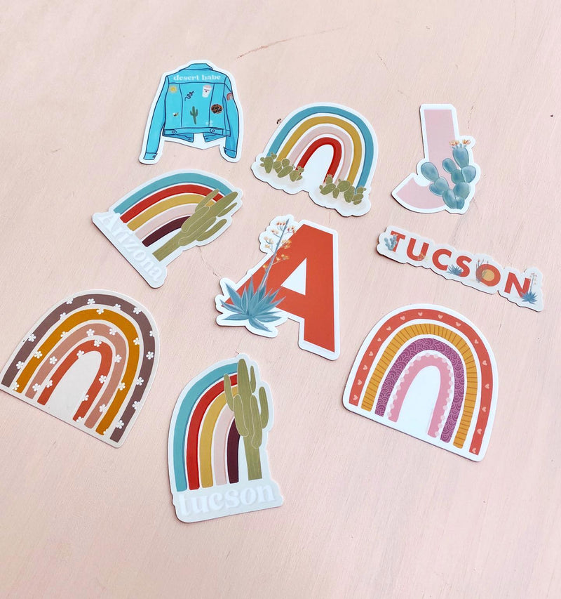 Daisy Rainbow Vinyl Sticker