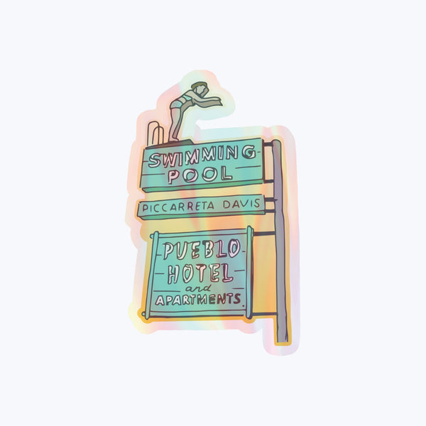 Pueblo Hotel Holographic Sticker