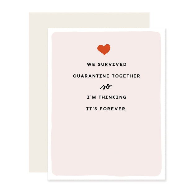Survived Quarantine Greeting Card