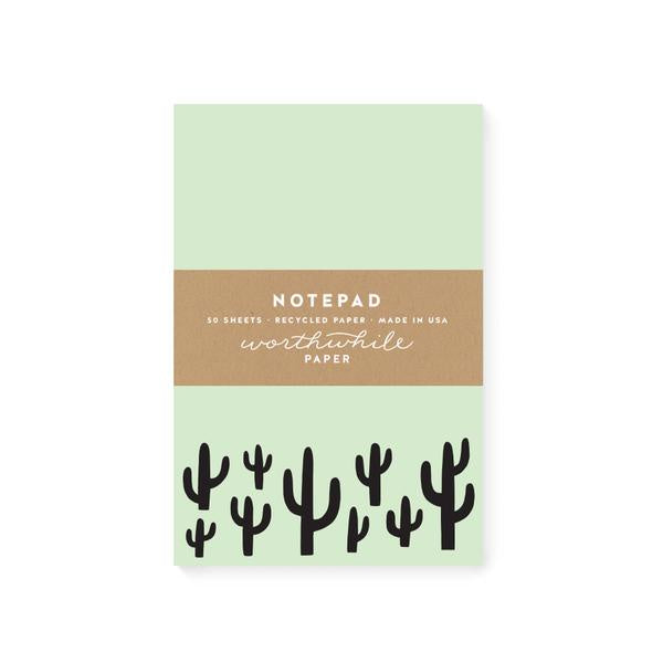 Green Cacti Notepad