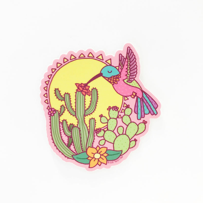 Sonoran Desert Hummingbird Vinyl Sticker