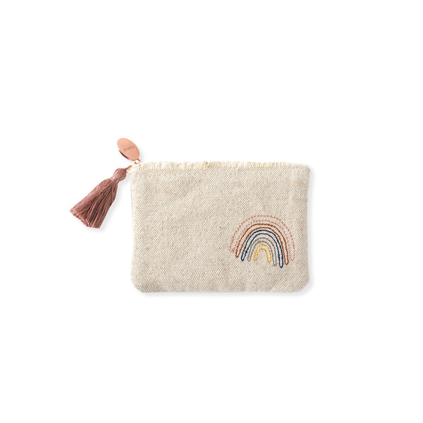 Stitched Rainbow Canvas Pouch