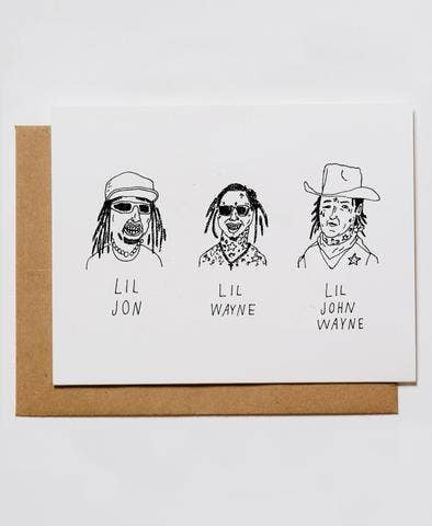 Lil John Wayne Greeting Card