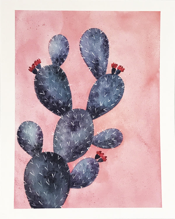 Pink Prickly Pear Art Print