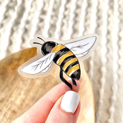 Clear Honey Bee Vinyl Sticker