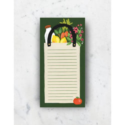 Grocery Bag Market List Notepad