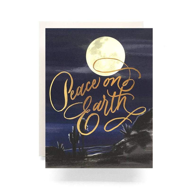'Peace On Earth' Moon Greeting Card