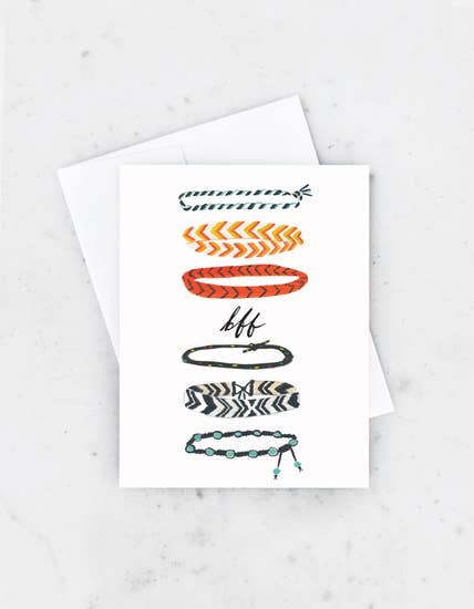 BFF Bracelets Greeting Card
