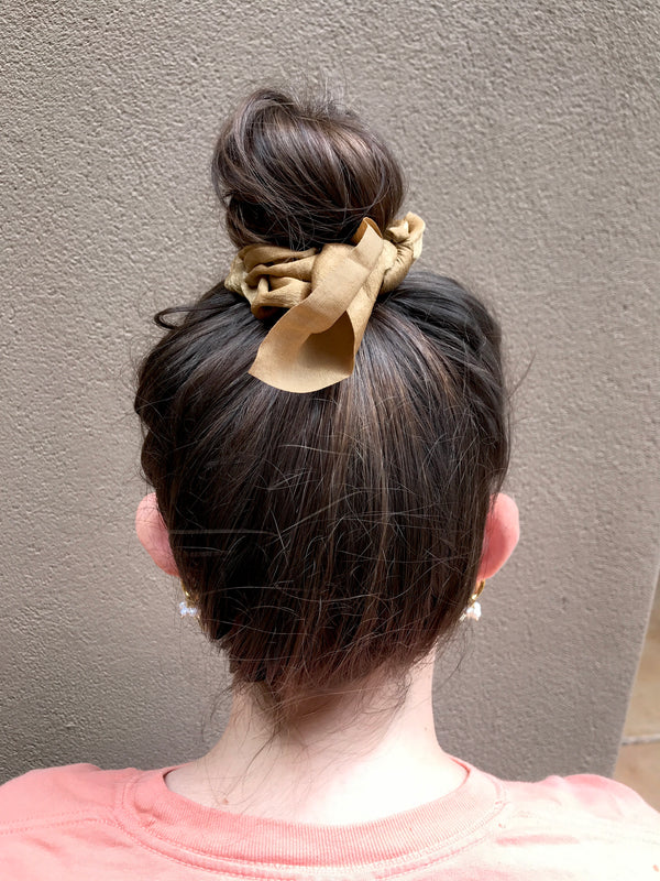 Satin Hair Bow Scrunchies