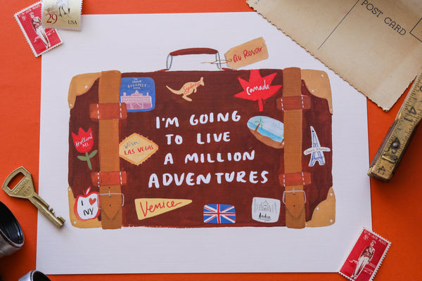 Million Adventures Art Print