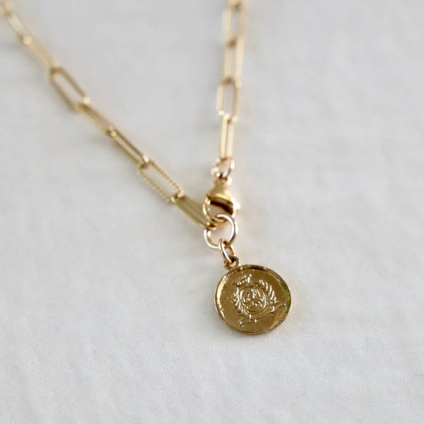 Vintage Coin Chain Necklace