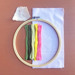 Three Cacti Embroidery Supply Kit