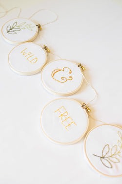 Private Embroidery Workshop: Garland