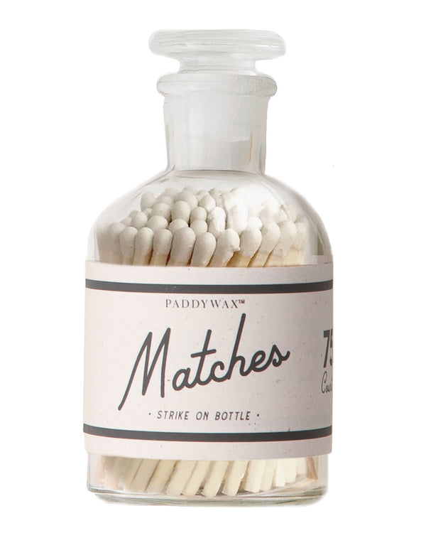 Glass Match Bottle