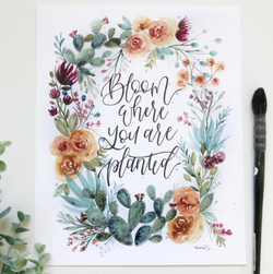 'Bloom Where You're Planted' Art Print