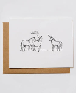 Suggestive Unicorns Greeting Card