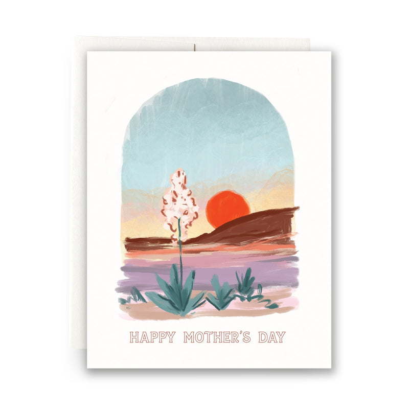 Desert Sunset Mother's Day Greeting Card