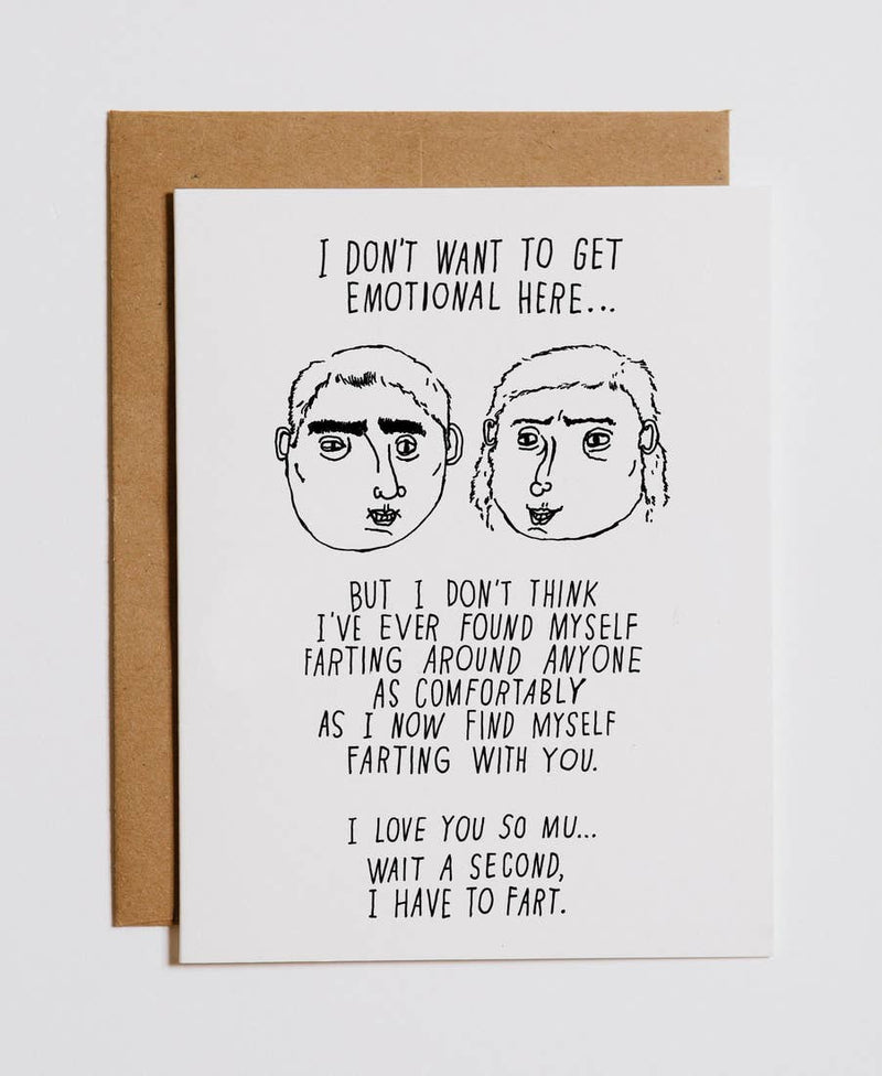 Farting With You Greeting Card