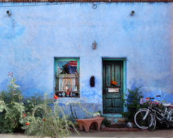 Barrio Blue: Doors of Tucson Print