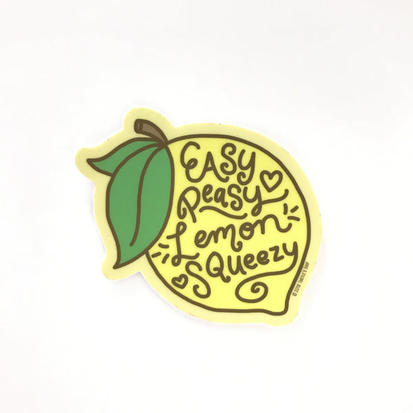Easy Peasy Lemon Funny Vinyl Sticker