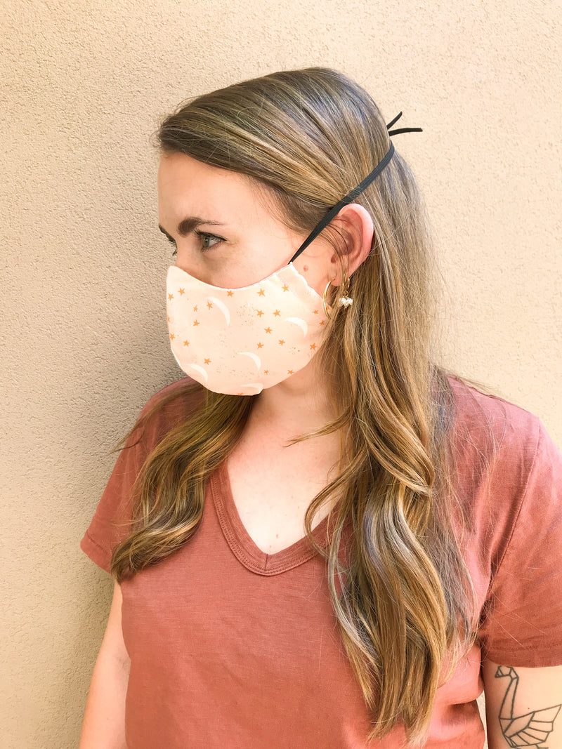 Lightweight Cotton Adjustable Face Mask – Succulents