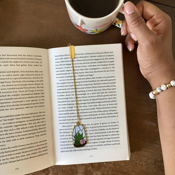 Terrarium Enamel Bookmark
