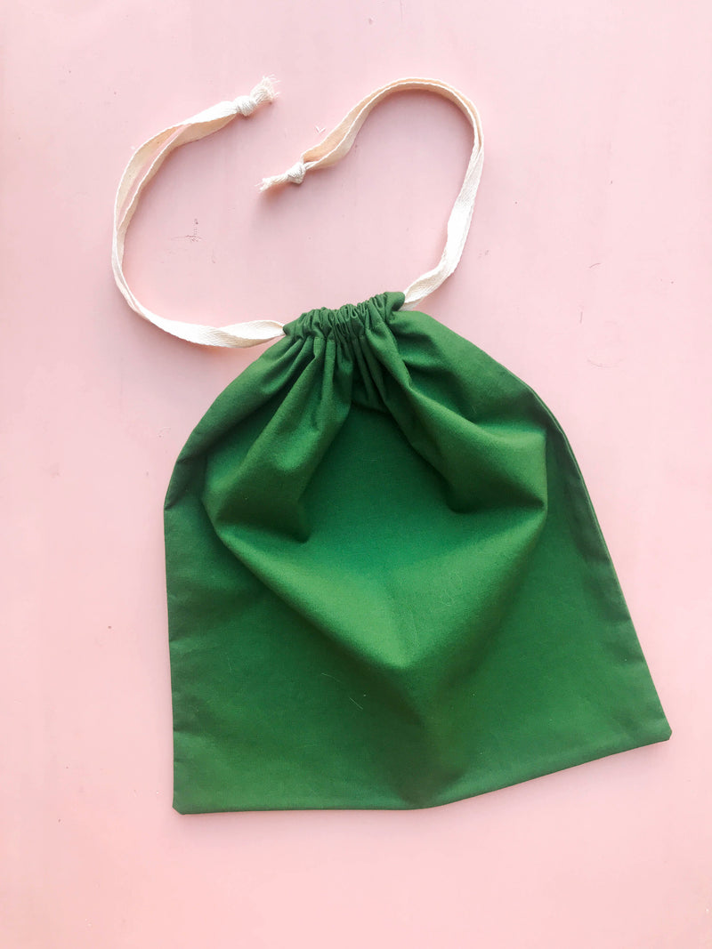 "Cotton Drawstring Market Bag – 12"" x 12"""