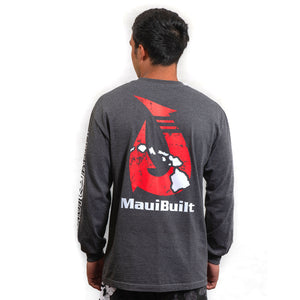 Maui Built Makau Hawaiian Hook Logo Long Sleeve T-shirt