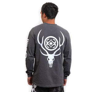 Maui Built Deer Skull Logo Long Sleeve T-shirt