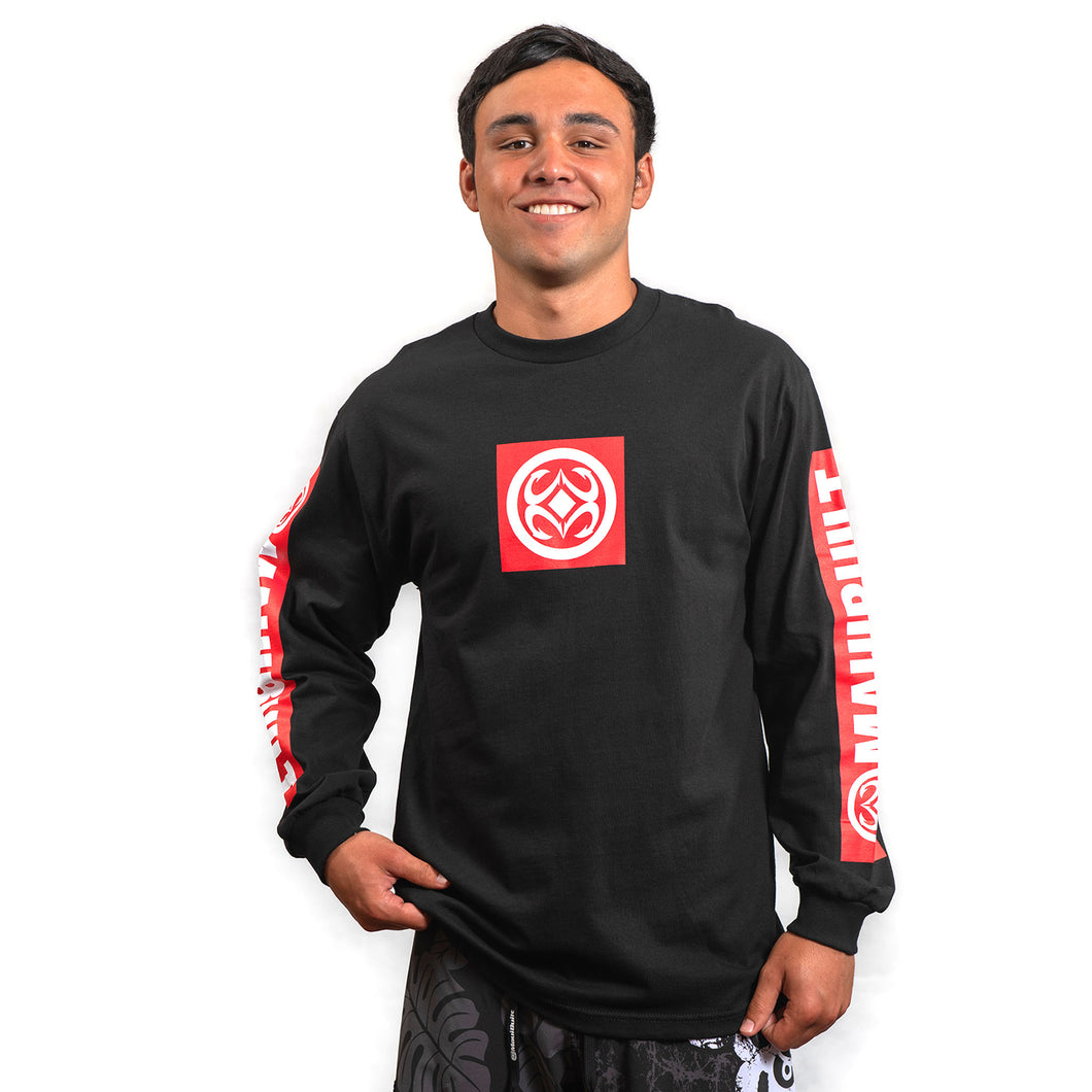 Maui Built Red Bar Logo Long Sleeve T-shirt