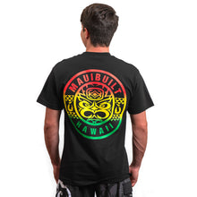 Load image into Gallery viewer, Maui Built Tribal Rasta Tiki T-shirt