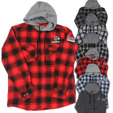Maui Built Hooded Flannel Shirt