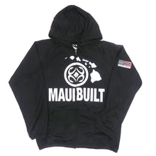 Load image into Gallery viewer, Maui Built Logo Zip Hoodie Jacket - Black