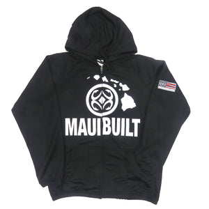 Maui Built Logo Zip Hoodie Jacket - Black