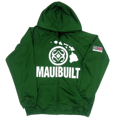 Maui Built Logo Zip Hoodie Jacket - Green