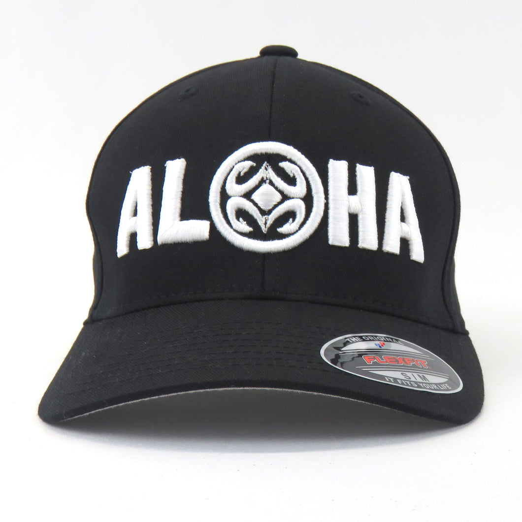 Maui Built Aloha Logo Embroidery Flex Fit Cap