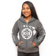 Load image into Gallery viewer, Maui Built Women's Hawaiian Isle Chain Logo Jacket