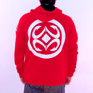 Maui Built Logo Pull Over Hoody Jacket - Red