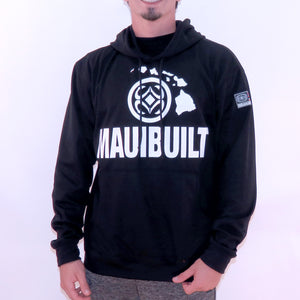 Maui Built Logo Pull Over Hoody Jacket - Black
