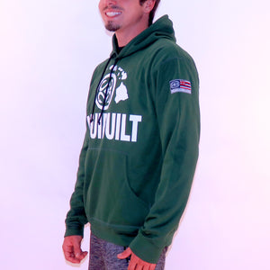 Maui Built Logo Pull Over Hoody Jacket - Green