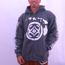 Load image into Gallery viewer, Maui Built Logo Zippered Fleece Hoody - Grey