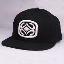 Load image into Gallery viewer, Maui Built Raised Embroidery Black Snapback Cap